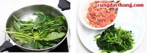 Thay đổi khẩu vị với canh cải thịt viên cho bé